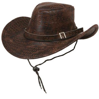 party maskerad cowboy hatt brun ormskinnsmönstrad hattar mode   accessoarer    websh. f59fdb95475cb