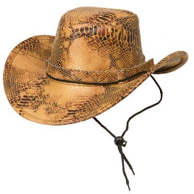 party maskerad cowboy hatt beige ormskinnsmönstrad hattar mode    accessoarer   webs. 4811b461dd7e1