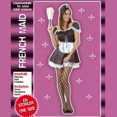 Party maskerad dräkt French Maid one size