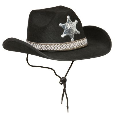 party maskerad sheriffhatt svart hattar mode   accessoarer   webshop ambro  kvalitets. 680f8cc2a9cda