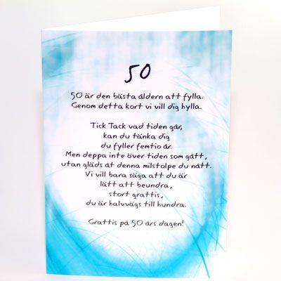 grattis 50 år dikt Grattis På Födelsedagen 50 År  |  abroad center grattis 50 år dikt