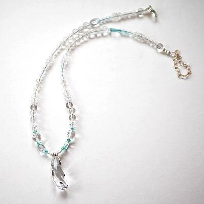 terapeutiskt smycke halsband kristaller och 925 sterling silver tema ljus  kärlek h . acc22fdad9960